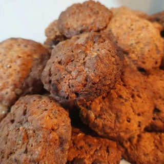 sour cherry and oat cookies